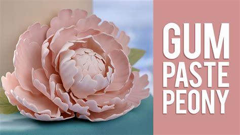how to make gum paste how to make gum paste peony flowers doovi