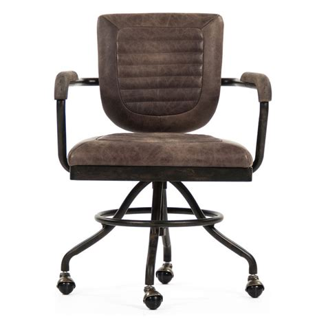 Office Chairs Industrial by Vintage Industrial Iron Pipe Base Swivel Office Chair With