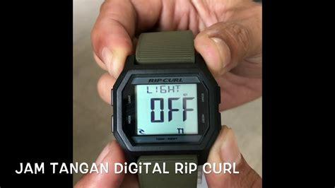 jam tangan digital rip curl fungsi dan cara setting tipe atom youtube