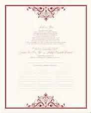 formal wedding program wording wedding vows quaker wedding certificates traditional