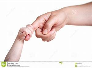 Baby's Hand Holding Finger Of Mother Stock Photo - Image ...
