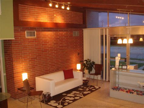 modern brick interior decorating homes partially exposed