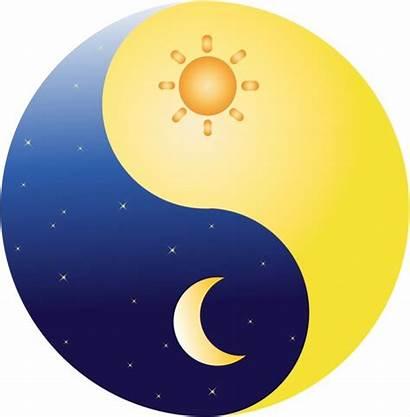 Moon Sun Yang Ying Vector Clipart Clip