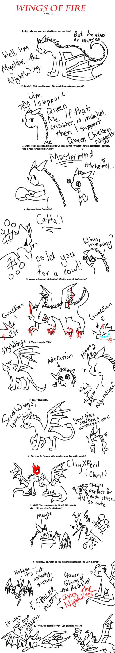 Wings Of Fire Memes - wings of fire meme myeline by shadowsoarhawkflight on deviantart