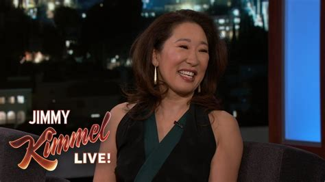 sandra oh on killing eve sandra oh on shooting killing eve youtube