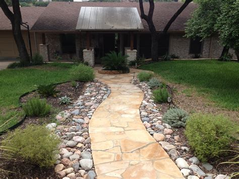 flagstone garden arizona flagstone walkway with cedar porch cover love this look landscaping ideas