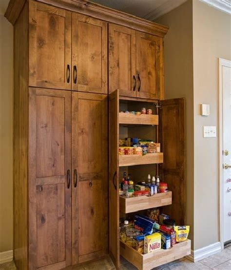 simple freestanding kitchen pantry plans homes