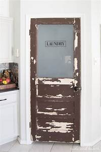 Vintage Touch Rustic Laundry Door Update Table And Hearth