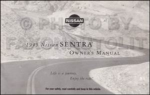 1999 Nissan 1 6l Sentra Repair Shop Manual Original