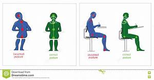 Correct And Incorrect Posture While Sitting And Writing ...