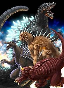 godzilla | Godzilla, Varan, Anguirus and Baragon ...
