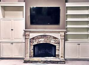 Antique, White, Built, Ins, And, Mantle