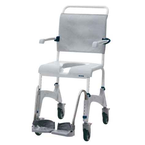 aquatec commode and shower chair 5 casters