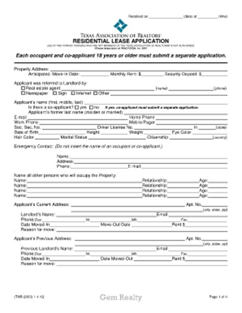 trec residential lease form 2012 form tar 2003 fill online printable fillable blank