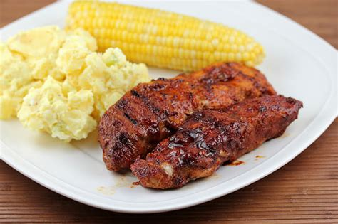 Grilled  Barbequed County Style Ribs Recipe Free