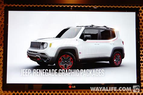 sema show jeep renegade graphic packages
