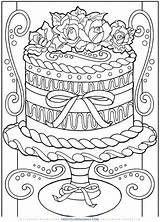 Coloring Pages Cake Decorating Printable Adults sketch template