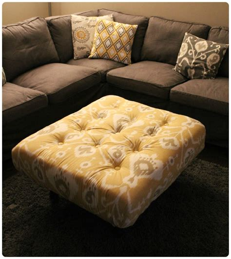 Make Ottoman by Diy Tufted Ikat Ottoman From Upcycled Pallet With Tutorial