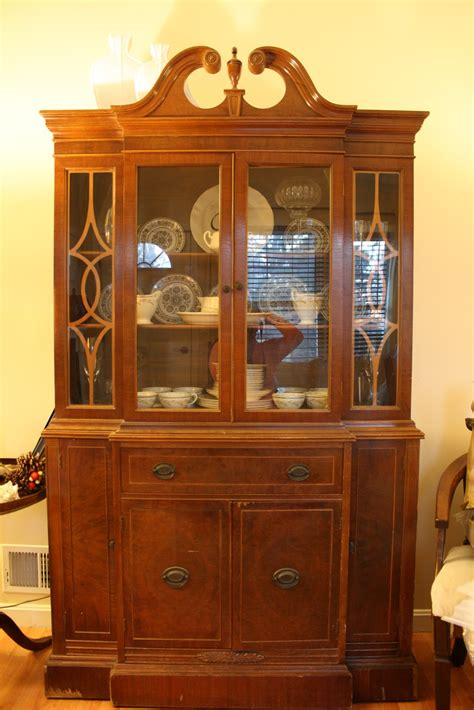My Cupboard by Living Room Updates Spray Painted China Cabinet Makeover