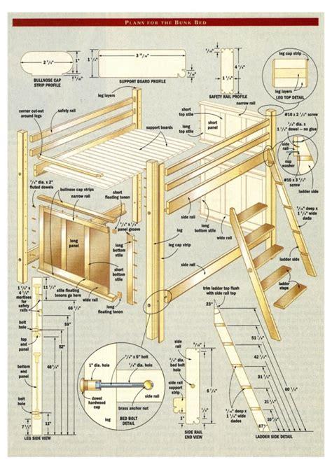 woodwork bunk bedroom plans  plans
