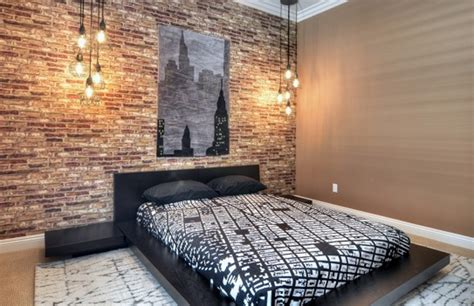 Holz Tapete Schlafzimmer by Faking An Exposed Brick Wall Brinjals Design