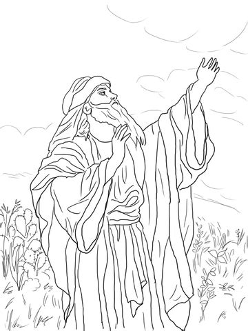 prophet isaiah coloring page  printable coloring pages