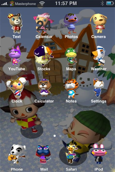 Animal Crossing Iphone Wallpaper - animal crossing iphone theme by sushi geisha on deviantart