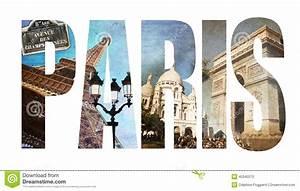 photo collage letters paris stock illustration image With paris letters