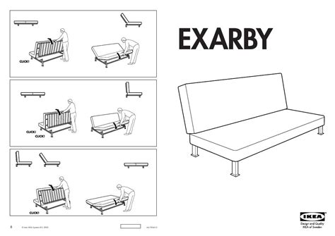 user manual ikea exarby sofa bed frame 34 reviews for