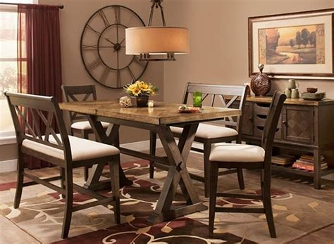 wexford  pc counter height dining set   benches