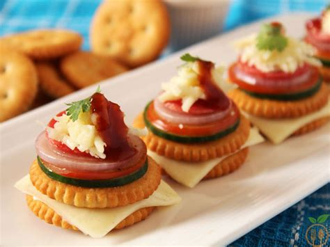 canape recipes monaco biscuit canapes how to monaco biscuit toppings