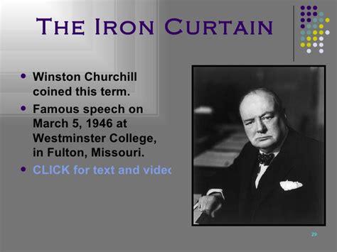 Churchills Iron Curtain Speech Transcript by Cold War U S History 1945 Present