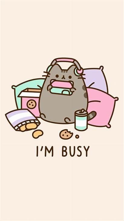 Pusheen Kawaii Cat Wallpapers Iphone Backgrounds Background