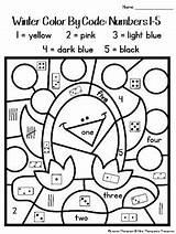 Kindergarten Coloring Code Teacherspayteachers Math sketch template