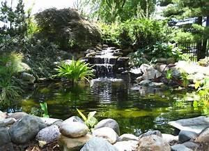 Jardin Avec Bassin : cascade bassin de jardin 27 id es cr er votre havre de paix ~ Melissatoandfro.com Idées de Décoration