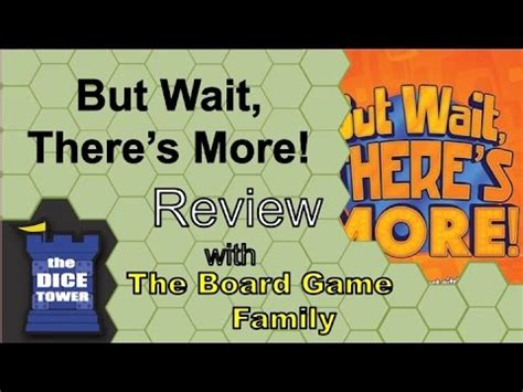But Wait There's More Review  With The Board Game Family