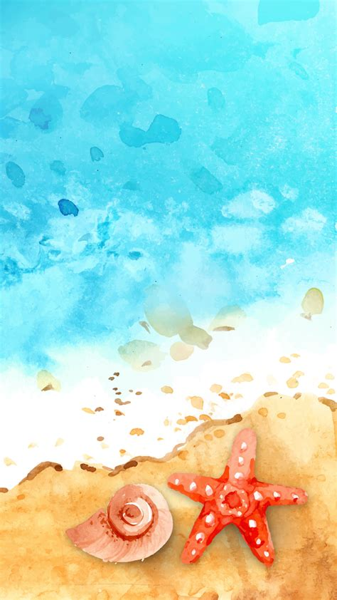Download color phone wallpapers hd beautiful background images collection free for your color smartphone. Ultra HD Watercolor Seashore Wallpaper For Your Mobile ...