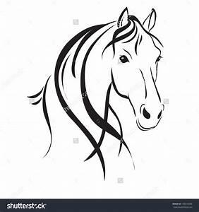 Black Horse Head Clipart (85+)