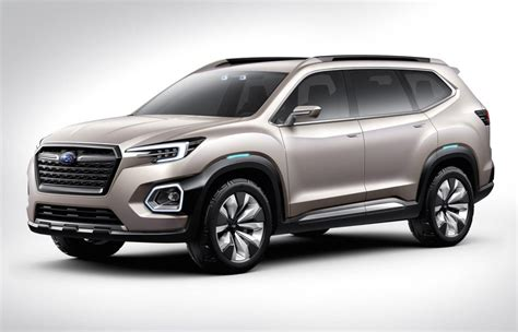 subaru concept truck subaru previews new 7 seat suv with viziv 7 concept