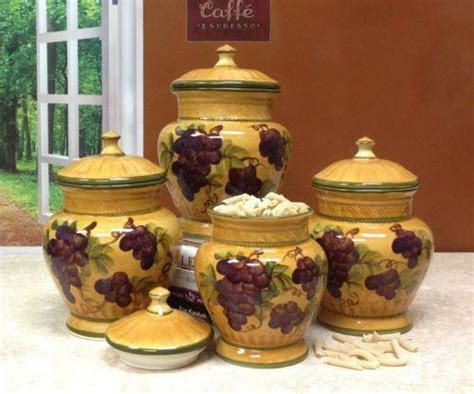 grape kitchen canisters grape canister set ebay