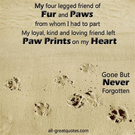 legged friend  fur  paws pet loss famous
