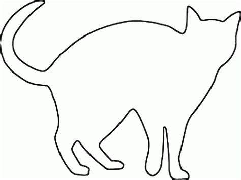 Cat Template Outline Of Cat Coloring Home