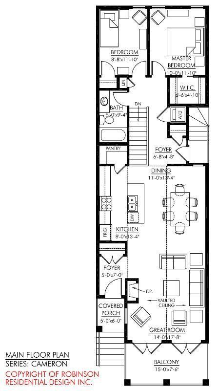storey narrow house plans google search skinny