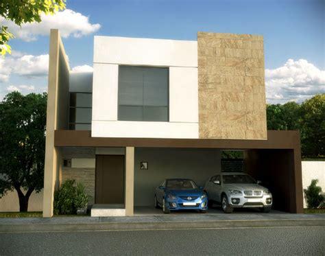 Fachada Y Plano De Una Casa Minimalista Que Tiene Todo