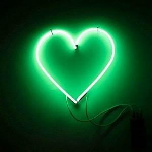 neon green moodboard