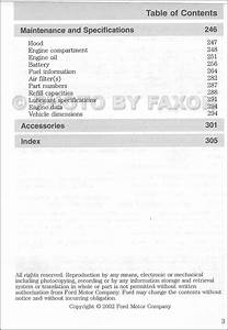 2002 Ford F150 Owners Manual Original F