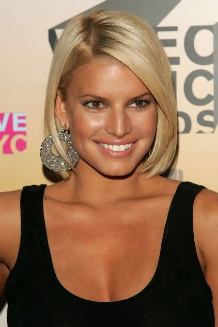 jessica simpson short bob hairstyle hairstyles weekly