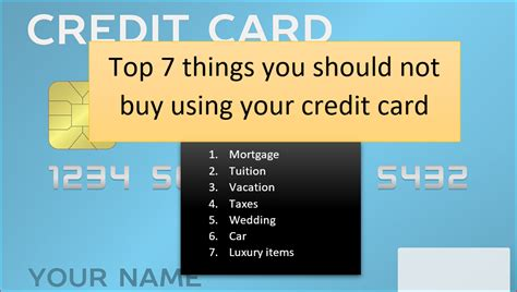 The philosophy behind this advice does have some merit; 7 things you should NOT buy using your credit card - Estradinglife Estradinglife