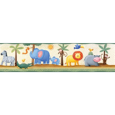 Wall Borders Decals Walmart Com Roommates Jungle Adventure