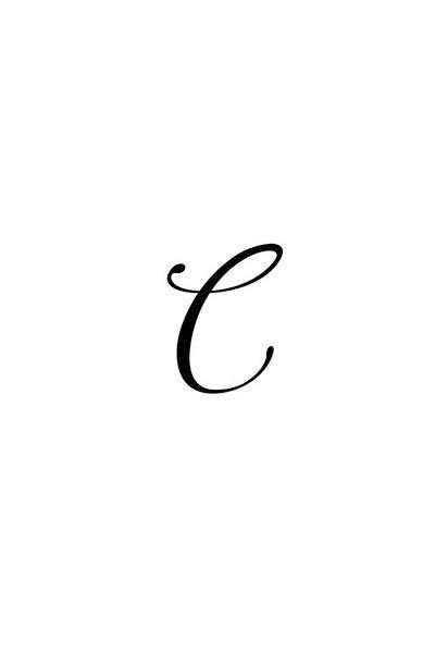 Pochoir Lettre C  Tattoo Diffusion